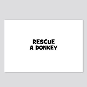 rescue a donkey Postcards (Package of 8)