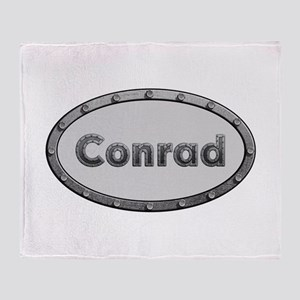 Conrad Metal Oval Throw Blanket