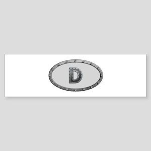 D Metal Oval Bumper Sticker