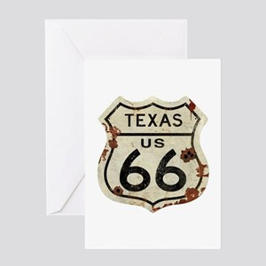 Texas Route 66 - Greeting Card