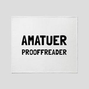 Proofreader Throw Blanket