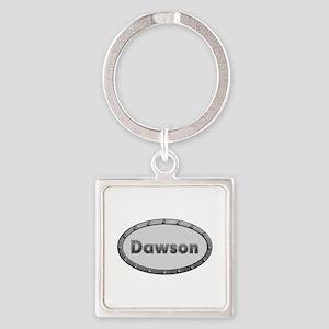 Dawson Metal Oval Square Keychain