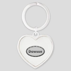 Dawson Metal Oval Heart Keychain