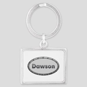 Dawson Metal Oval Landscape Keychain