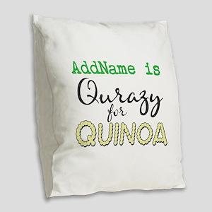 CUSTOMIZE Quinoa Burlap Throw Pillow