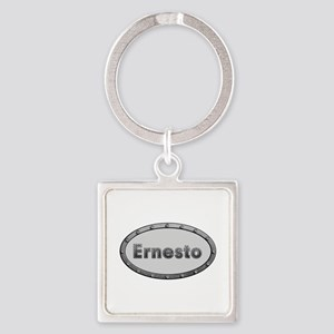 Ernesto Metal Oval Square Keychain