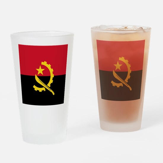Flag of Angola Drinking Glass