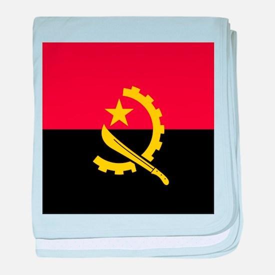 Flag of Angola baby blanket