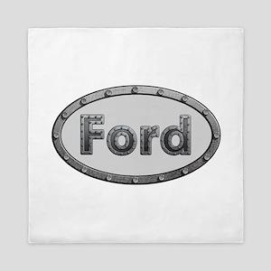 Ford Metal Oval Queen Duvet
