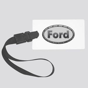 Ford Metal Oval Large Luggage Tag
