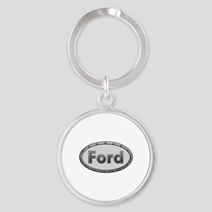 Ford Metal Oval Round Keychain