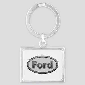 Ford Metal Oval Landscape Keychain