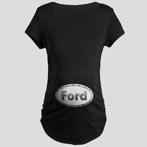 Ford Metal Oval Maternity Dark T-Shirt