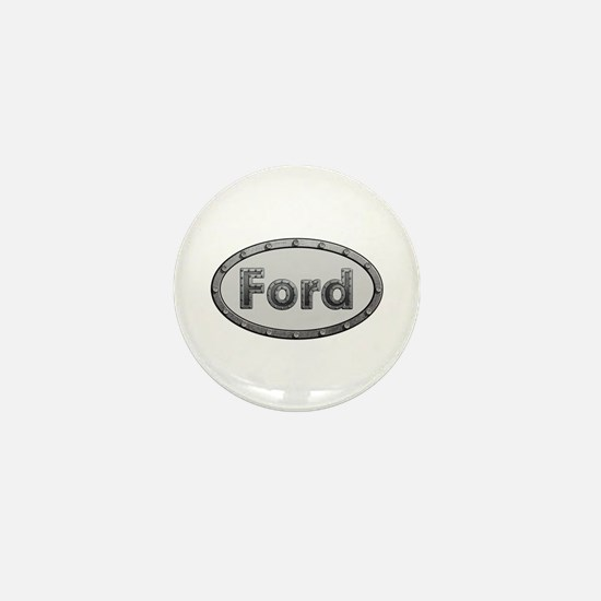 Ford Metal Oval Mini Button