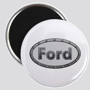 Ford Metal Oval Round Magnet