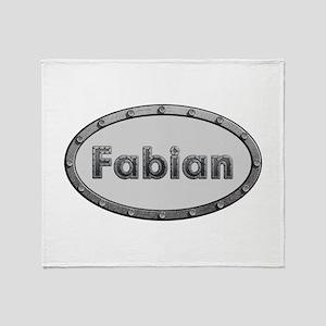 Fabian Metal Oval Throw Blanket