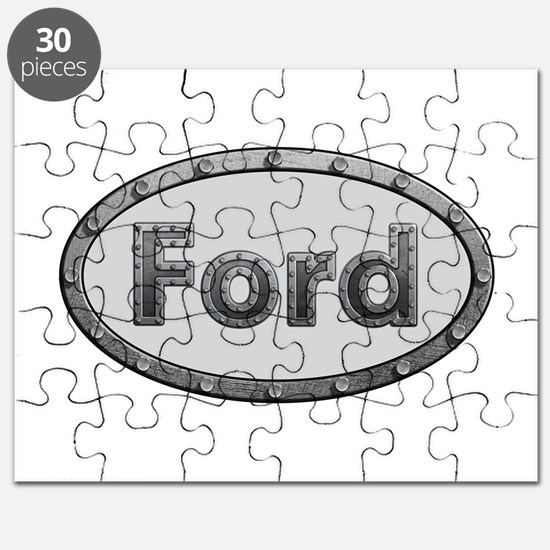 Ford Metal Oval Puzzle