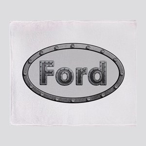 Ford Metal Oval Throw Blanket