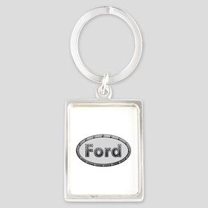 Ford Metal Oval Portrait Keychain