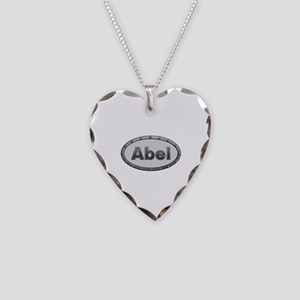 Abel Metal Oval Heart Necklace
