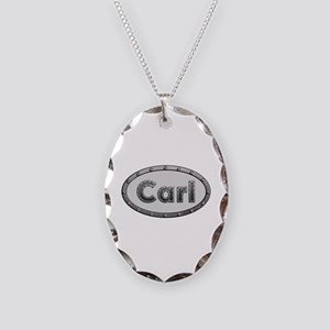 Carl Metal Oval Oval Necklace