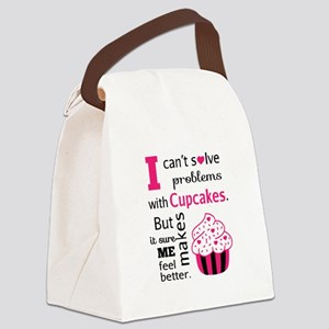 Cute, Humorous Cupcake Quote, Happiness Canvas Lun