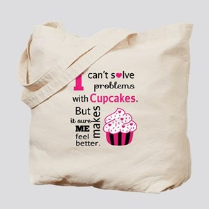Cute, Humorous Cupcake Quote, Happiness Tote Bag