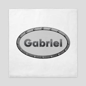 Gabriel Metal Oval Queen Duvet