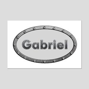 Gabriel Metal Oval Mini Poster Print