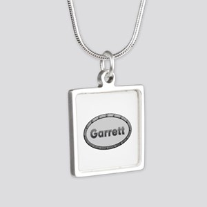Garrett Metal Oval Silver Square Necklace