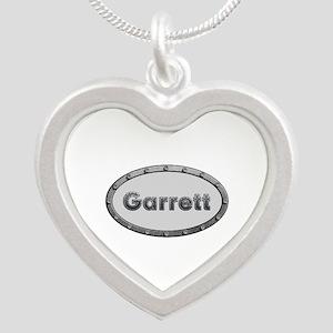 Garrett Metal Oval Silver Heart Necklace