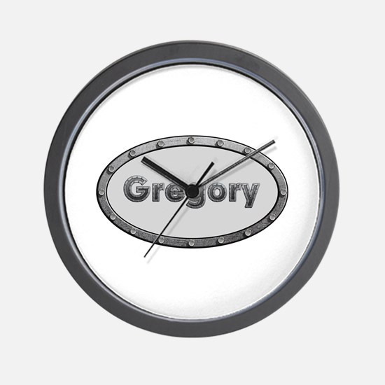Gregory Metal Oval Wall Clock