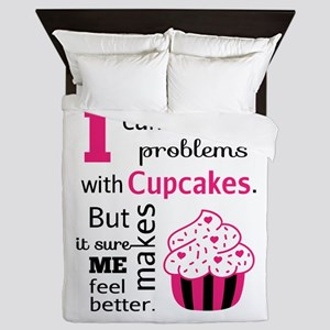 Cute, Humorous Cupcake Quote, Happiness Queen Duve