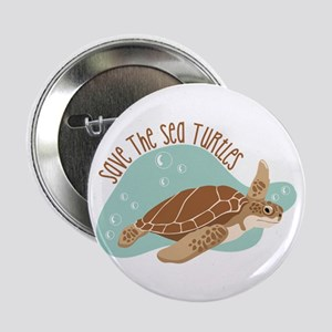 """Save the Sea Turtles 2.25"""" Button"""