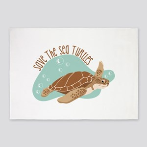 Save the Sea Turtles 5'x7'Area Rug