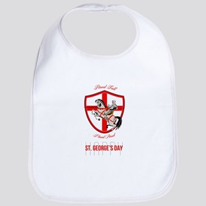 Stand Tall Happy St George Day Retro Poster Bib