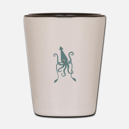 Giant Squid Shot Glass