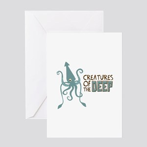 Creatures of the Deep Greeting Cards