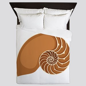 Nautilus Shell Queen Duvet