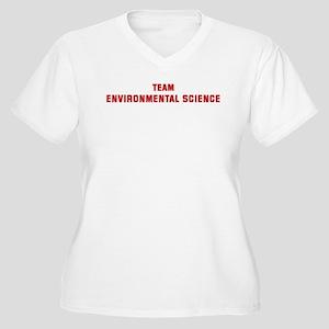 Team ENVIRONMENTAL SCIENCE Women's Plus Size V-Nec