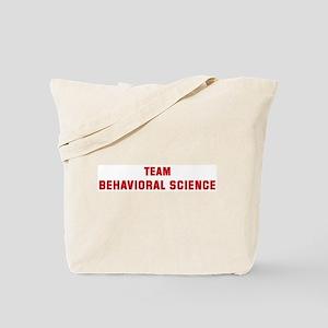 Team BEHAVIORAL SCIENCE Tote Bag