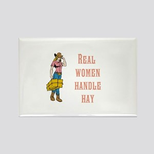 Real Women Handle Hay Magnets