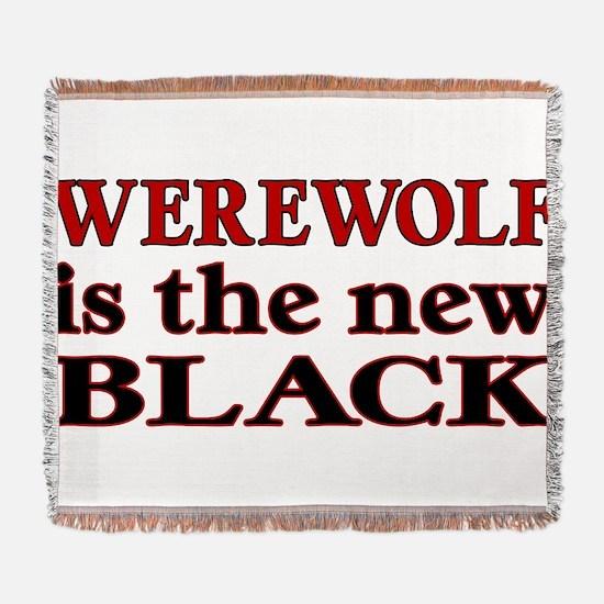 Werewolf is the new Black Woven Blanket