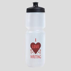 I LOVE WRITING Sports Bottle