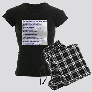 Clues You May Be a Writer Women's Dark Pajamas