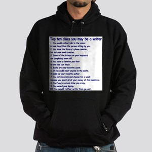 Clues You May Be a Writer Hoodie (dark)