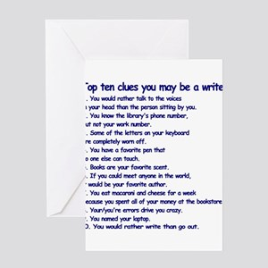Writer greeting cards cafepress clues you may be a writer greeting card m4hsunfo