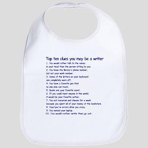 Clues You May Be a Writer Bib