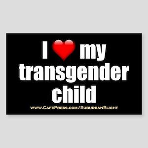 """Love My Transgender Child"" Sticker (Rectangle)"