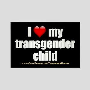 """Love My Transgender Child"" Rectangle Magnet"